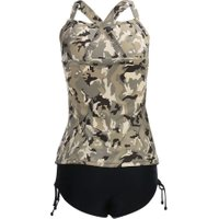 Women Summer Swimwear Camouflage Tankini Top Triangle Briefs Swimsuit Beach Bathing Suit Top  New
